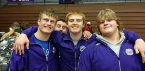 Brenton Wrigley, Mason Koechner, and Anders Vance go for a combined 12-3, each wrestler taking 3rd in his respective weight class after losing to top-ranked wrestlers in the semifinals. Photo courtesy of Alicia Vance.